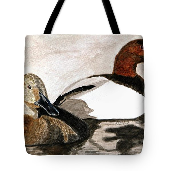 Canvasback Couple Tote Bag