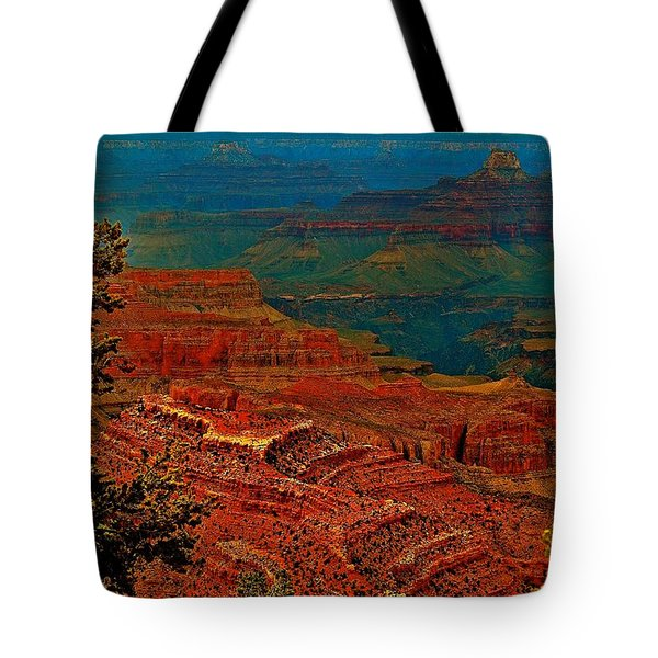 Canyon Colours Show Through Tote Bag