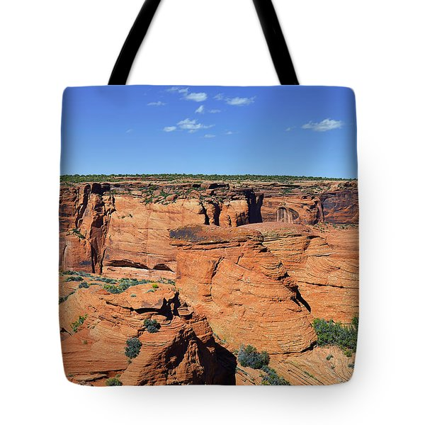 Canyon De Chelly From Sliding House Overlook Tote Bag by Christine Till