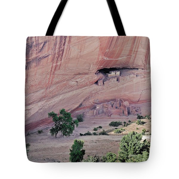 Canyon De Chelly Junction Ruins Tote Bag by Christine Till