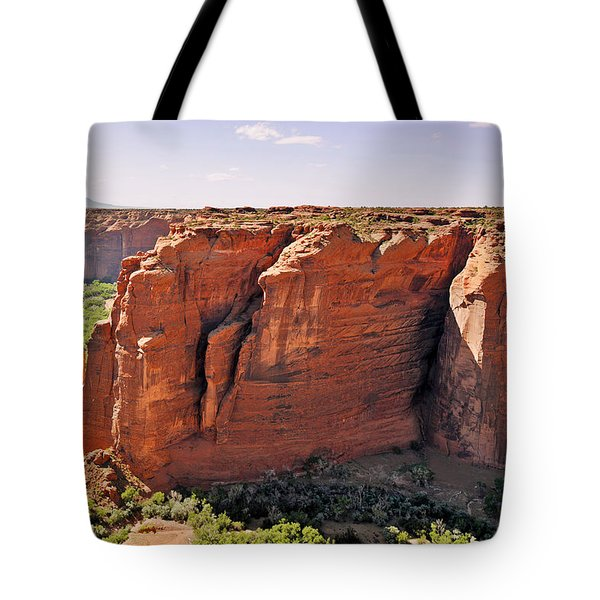 Canyon De Chelly - View From Sliding House Overlook Tote Bag by Christine Till
