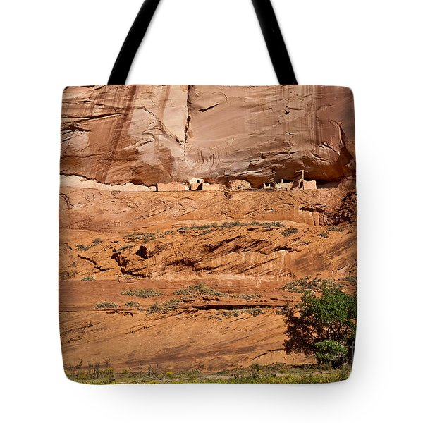 Canyon Dechelly Whitehouse Ruins Tote Bag by Bob and Nadine Johnston