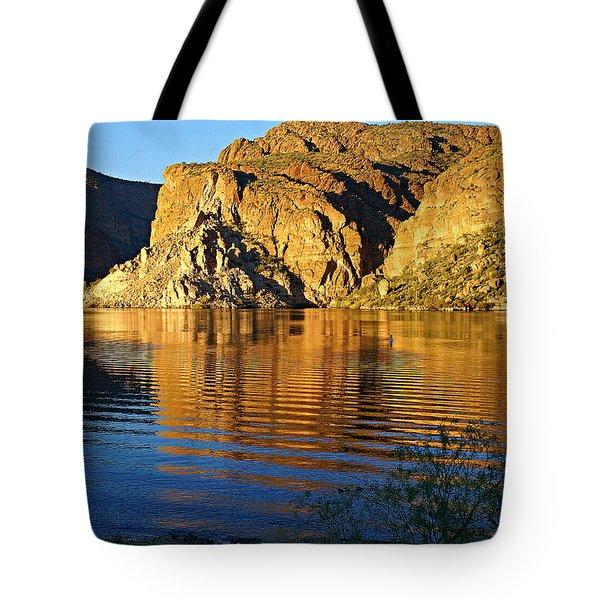 Canyon Lake Reflections Tote Bag