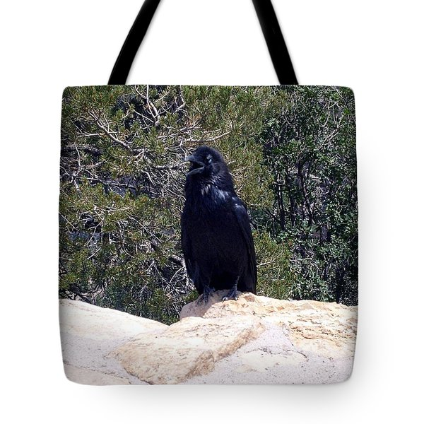 Canyon Raven Tote Bag