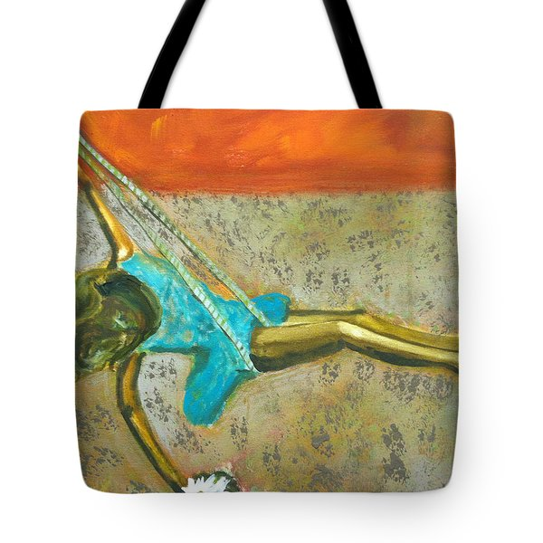 Tote Bag featuring the painting Canyon Road Sculpture by Keith Thue