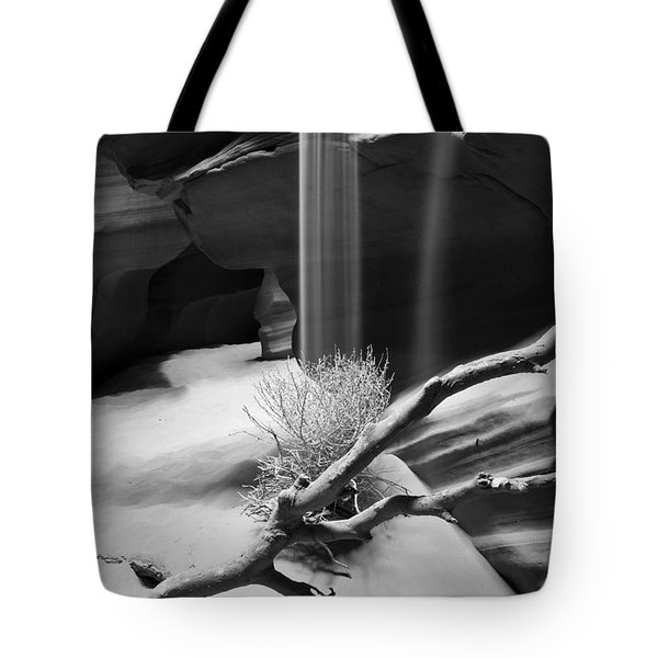 Tote Bag featuring the photograph Canyon Sandfall by Bryan Keil