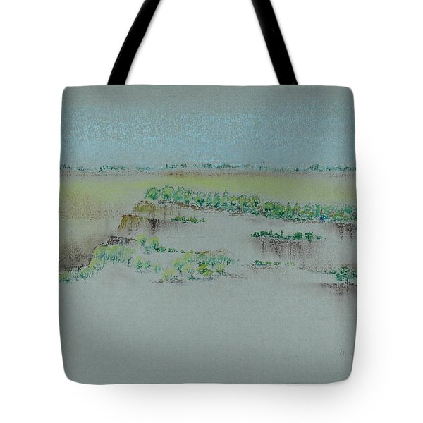 Tote Bag featuring the pastel Canyon View by Michele Myers