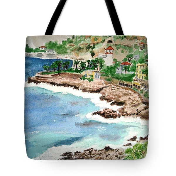 Cap D'ail On A Rainy Day Tote Bag