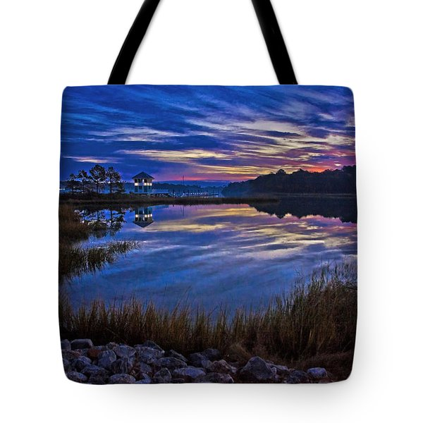 Cape Charles Sunrise Tote Bag