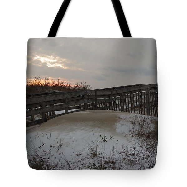 Cape Charles Winter Tote Bag