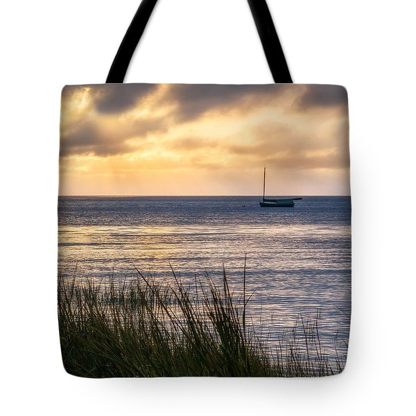 Cape Cod Bay Square Tote Bag by Bill Wakeley
