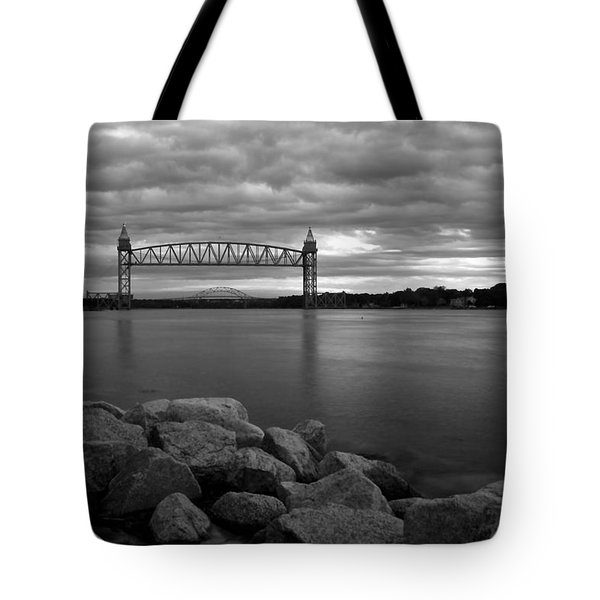 Tote Bag featuring the photograph Cape Cod Canal Train Bridge by Amazing Jules