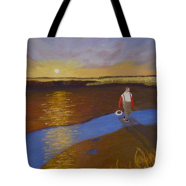 Cape Cod Clamming Tote Bag