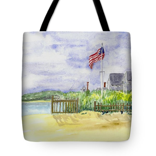 Massachusetts -cape Cod Cottages Tote Bag by Christine Lathrop