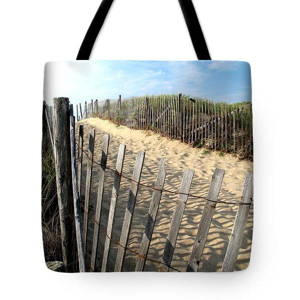 Cape Cod Dune Fencing Tote Bag