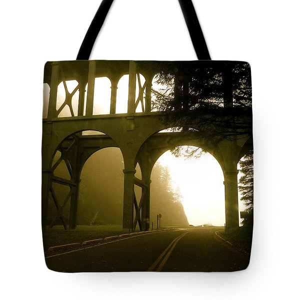 Cape Creek Bridge Tote Bag