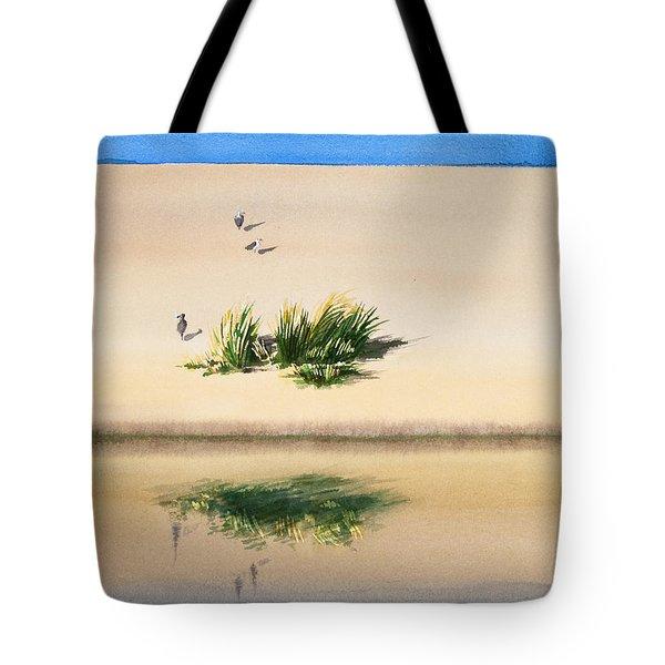 Cape Dune Watercolor Tote Bag by Michelle Wiarda
