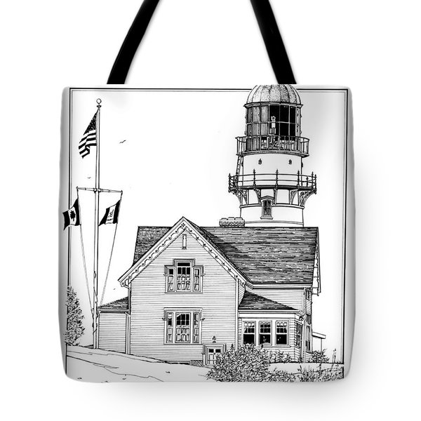 Cape Elizabeth Lighthouse Tote Bag
