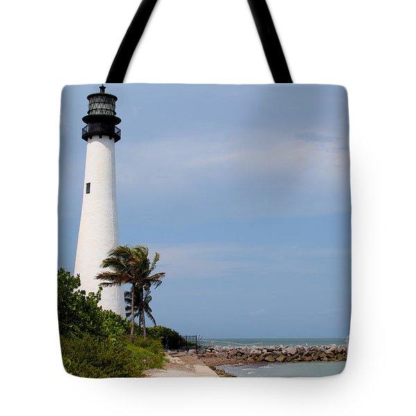 Cape Florida Beach Tote Bag by Carey Chen