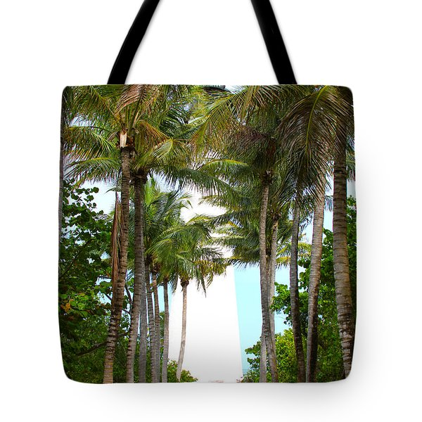 Cape Florida Walkway Tote Bag by Carey Chen