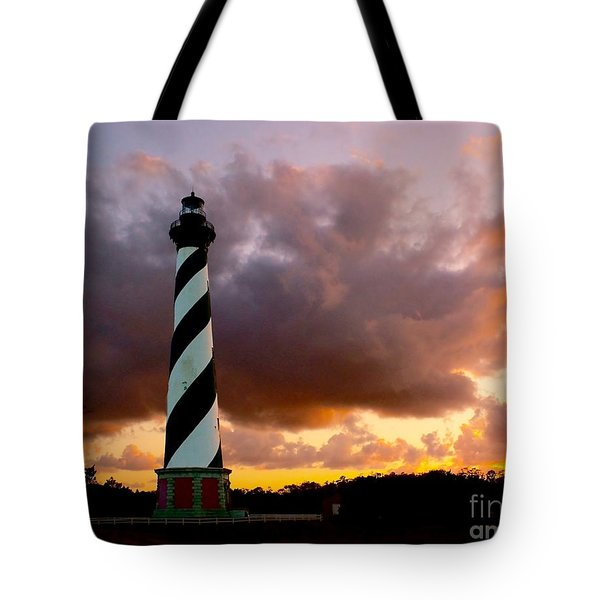 Cape Hatteras Sunset Tote Bag by Nick Zelinsky
