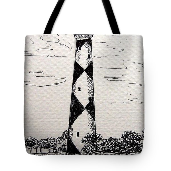 Cape Lookout Lighthouse Nc Tote Bag by Julie Brugh Riffey