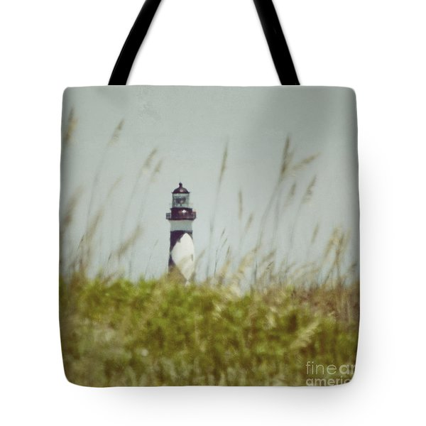 Cape Lookout Lighthouse - Vintage Tote Bag