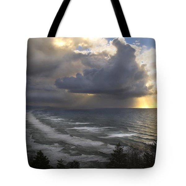 Sunset At Cape Lookout Oregon Coast Tote Bag