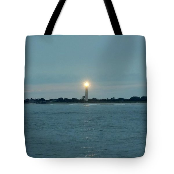 Cape May Beacon Tote Bag by Ed Sweeney