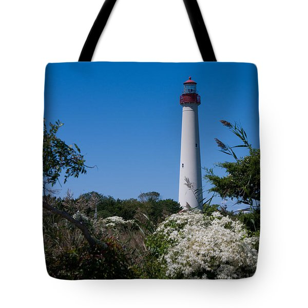 Tote Bag featuring the photograph Cape May Lighthouse by Greg Graham