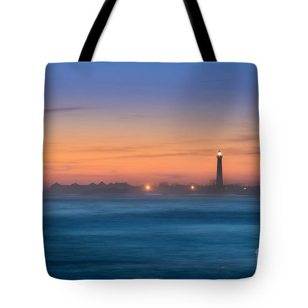 Cape May Lighthouse Sunset Tote Bag