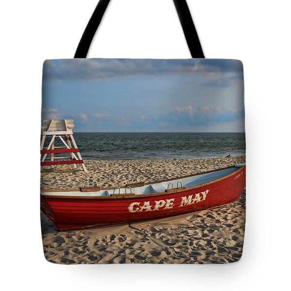 Cape May N J Rescue Boat Tote Bag