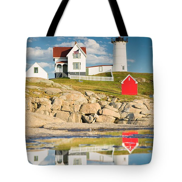 Cape Neddick Light  Reflections Tote Bag