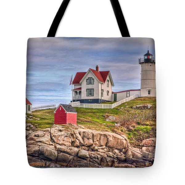 Cape Neddick Nubble Lighthouse II Tote Bag by Clarence Holmes