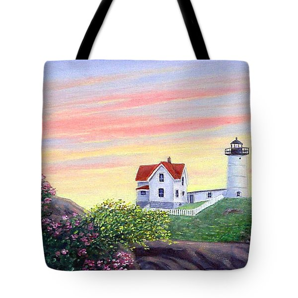 Cape Neddick Sunrise Tote Bag by Fran Brooks