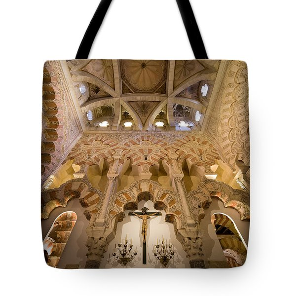 Capilla De Villaviciosa In The Great Mosque Of Cordoba Tote Bag