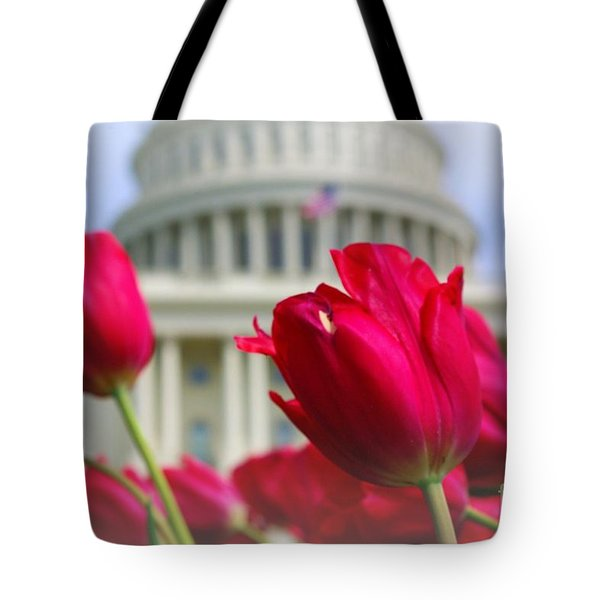 Tote Bag featuring the photograph Capital Flowers  by John S