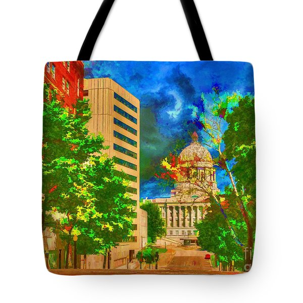 Capital - Jefferson City Missouri - Painting Tote Bag by Liane Wright
