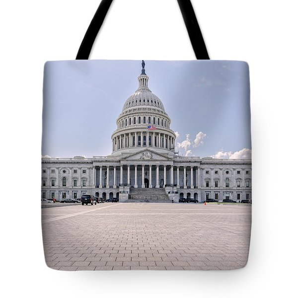Tote Bag featuring the photograph Capitol Building by Peter Lakomy