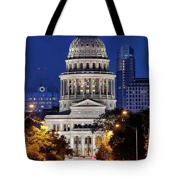 Capitol Of Texas Tote Bag