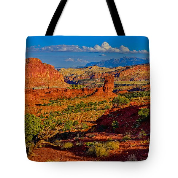 Tote Bag featuring the photograph Capitol Reef Landscape by Greg Norrell