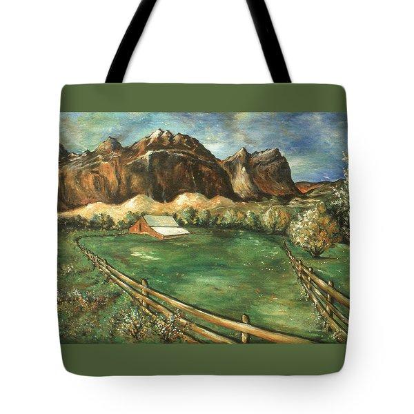 Capitol Reef Utah - Landscape Art Painting Tote Bag