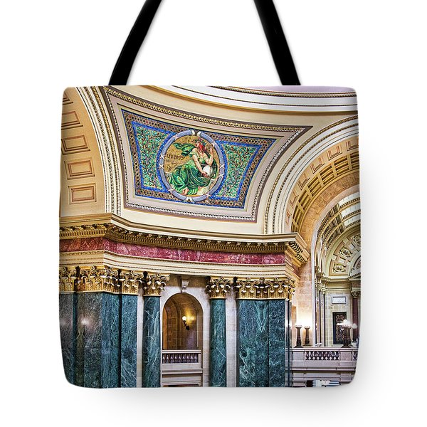 Capitol - Madison - Wisconsin Tote Bag by Steven Ralser
