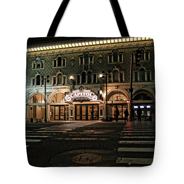 Tote Bag featuring the photograph Capitol Theatre by Ely Arsha