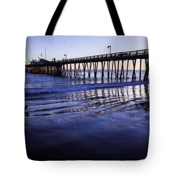 Capitola Wharf Reflections Tote Bag