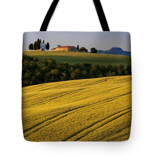 Cappelle Di Vitaleta Tote Bag by Brian Jannsen