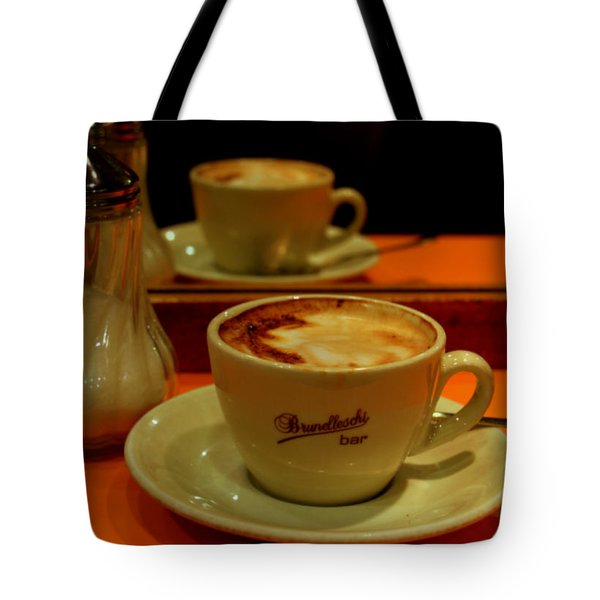 Tote Bag featuring the photograph Cappuccino by Caroline Stella