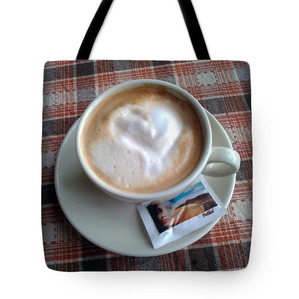 Cappuccino Love Tote Bag by Ausra Huntington nee Paulauskaite
