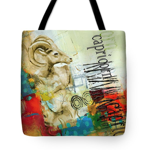 Capricorn Star Tote Bag by Corporate Art Task Force