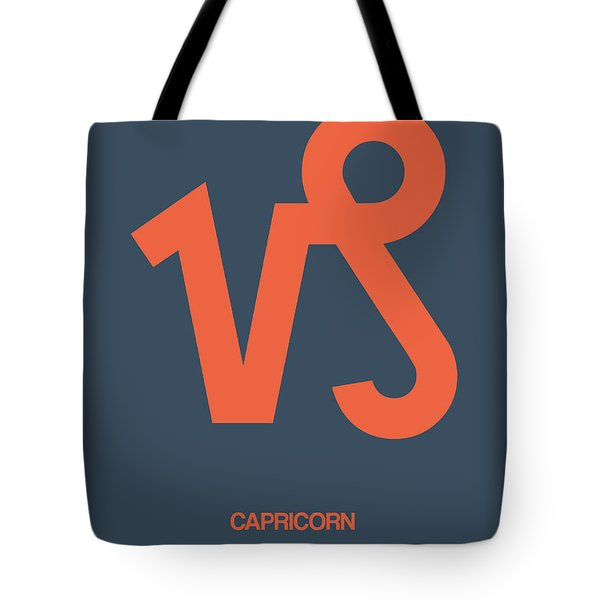 Capricorn Zodiac Sign Orange Tote Bag